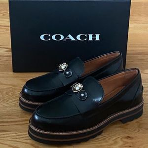 NIB COACH Lenox Platform Loafer--Black (8)